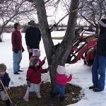The Year's First Visit to the Orchard