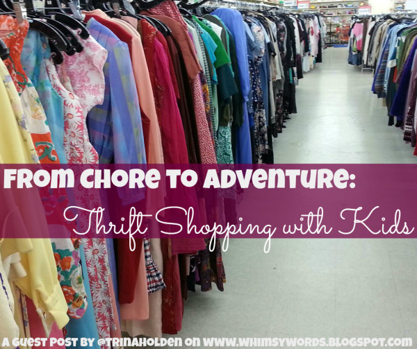 thrift shopping with kids
