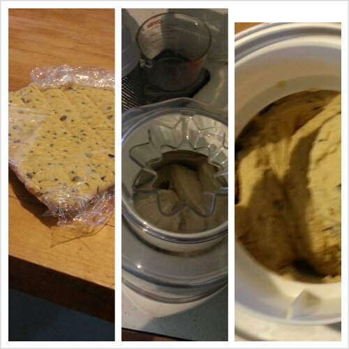 making cookie dough ice cream!