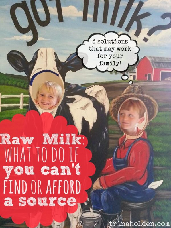 Can't find raw milk? Here's 3 solutions if you can't find or afford a source.