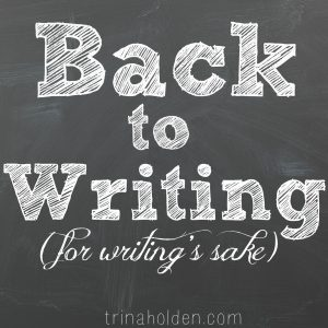 if you were a writer long before you were a blogger, these words are for you...
