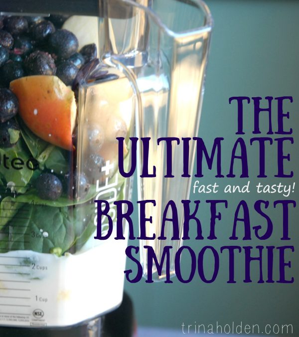 4 ingredient smoothie that starts your day with all the nutrients your brain and body need!
