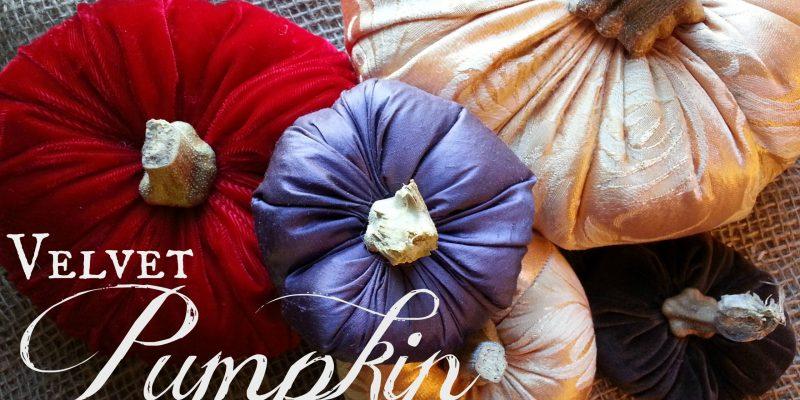 Velvet Pumpkin Tutorial