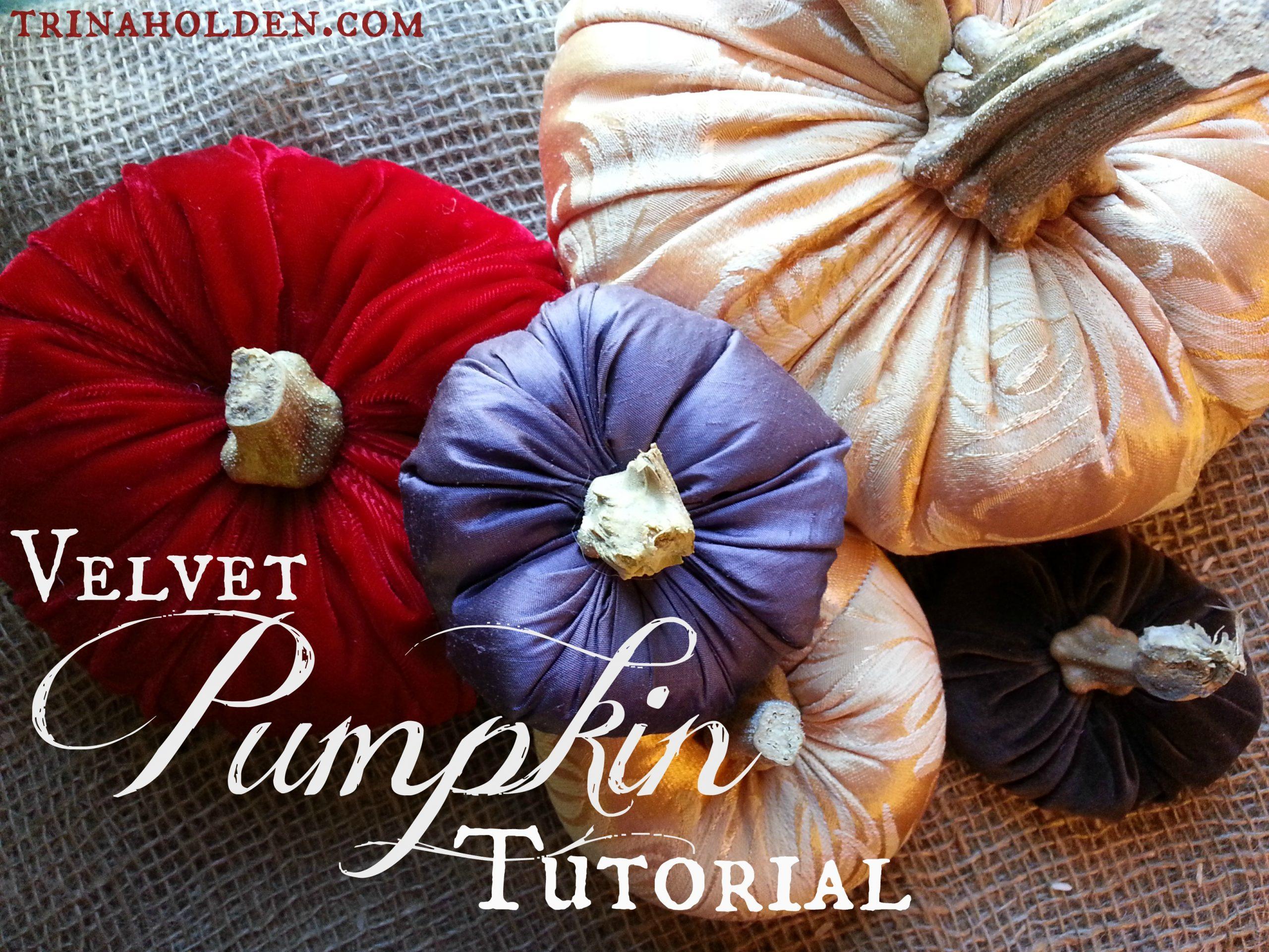 How To Make Velvet Pumpkins Trina Holden