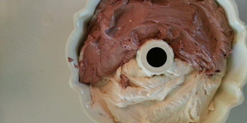 Half Chocolate, Half Vanilla Pound Cake...a beautiful Compromise